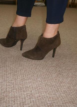 Германия оригинал натур.кожа! стильные туфли ботильоны