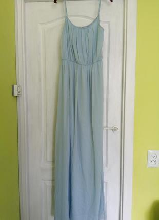 Макси длинное платье в пол с кружевом zara