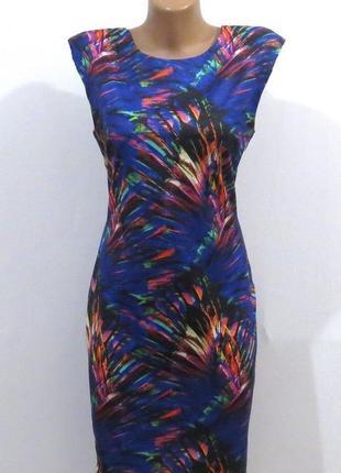 Модное платье с подплечниками от h&m размер: 46-48-m-l