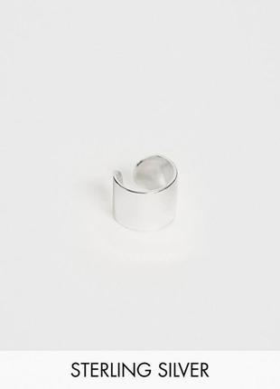 🐙🌊 серебряная сережка колечко кафф-унисекс от kingsley ryan с сайта asos