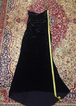 Продам темно-синее велюровое красивое вечернее платье (можно как выпускное)