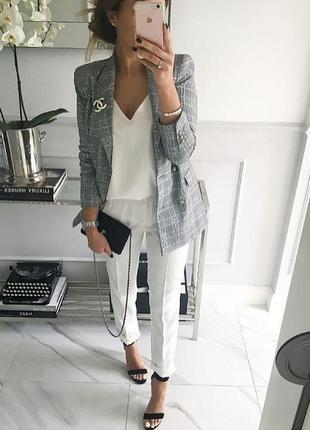 Чиносы белые штаны мом широкие брюки со стрелками