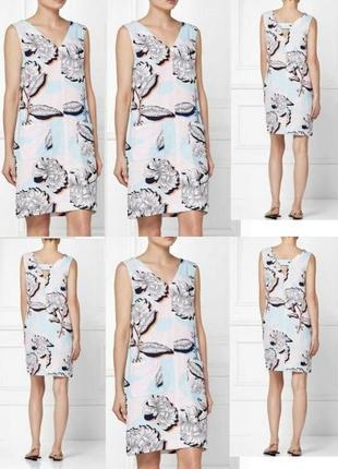 Льняное платье с принтом next