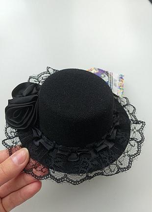 Маленькая шляпка, шляпа, заколка