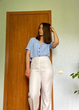 Льняные винтажные штаны