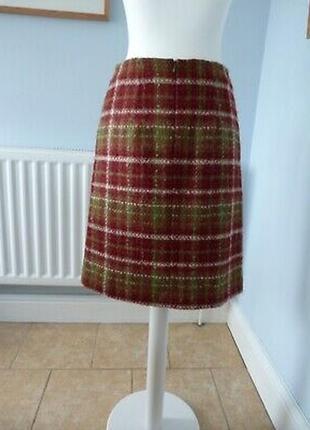 Супер легкая теплая шерстяная юбка от laura аshley