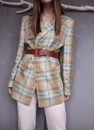 Льняной жакет пиджак блейзер лен шелк льон