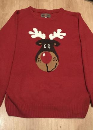Cтильный свитер с оленем, 100% акрил