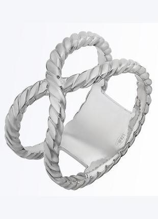"""Стильное удобное серебряное кольцо """"узел"""" авторская ручная работа"""