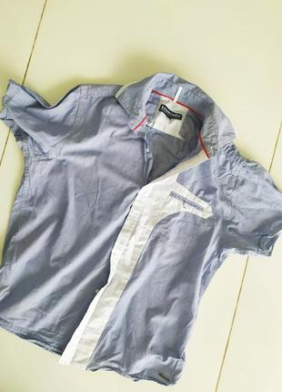 Хлопковая котоновая рубашка в мужском стиле