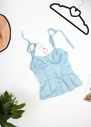 Джинсовая блуза denim co