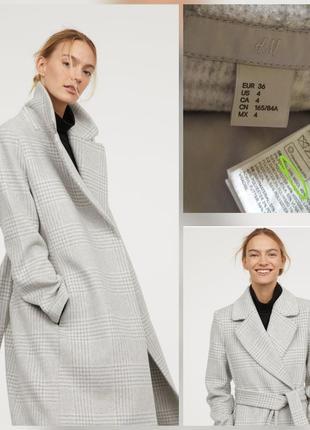 Фирменное базовое шерстяное пальто халат на запах шерсть супер качество!