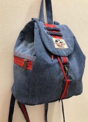 Сумка-рюкзак джинс handmade