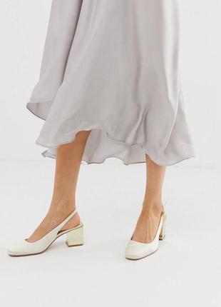 Босоножки туфли с открытой пяткой на блочном каблуке асос asos