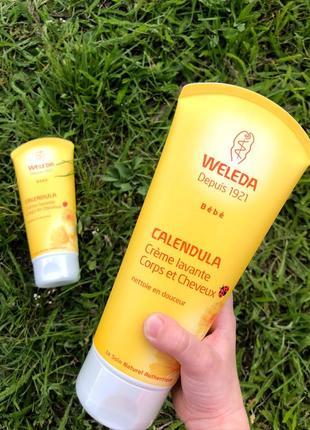 Веледа weleda детский шампунь-гель для тела и волос weleda calendula wash& shampoo