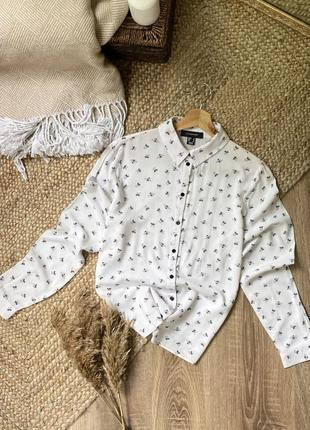 Рубашка в принт с пчёлами 🐝