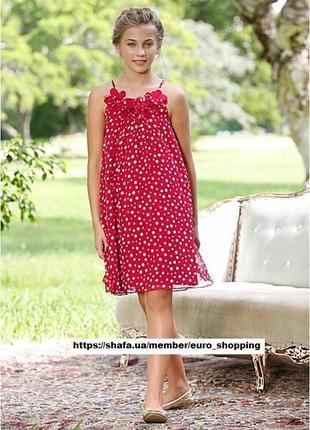 Роскошное красное платье сарафан в горошек свободного кроя bonprix bpc collection