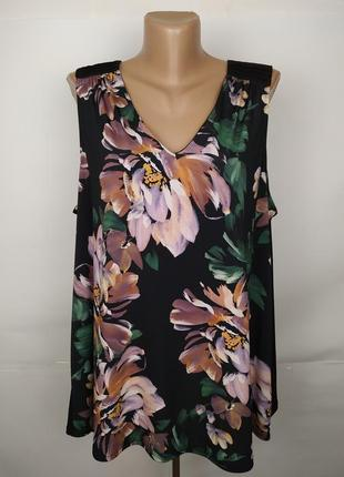 Блуза шикарная в цветы большой размер monsoon uk 18/46/xxl