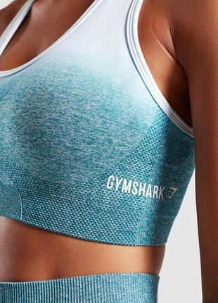 Спортивный топ gymshark ombré seamless4 фото