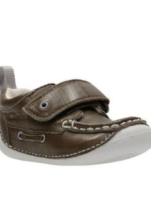 Туфли мокасины сlarks first shoes р. 4,5 стелька 11,5см