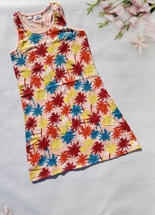 Яркий сарафан платье майка с пальмами хлопковое натуральное bonprix bpc collection1 фото