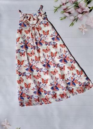 Роскошное яркое платье сарафан платье с бабочками bonprix bpc collection трапеция1 фото