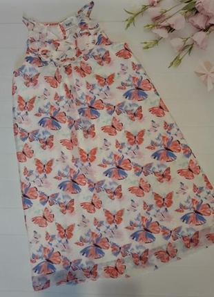 Роскошное яркое платье сарафан платье с бабочками bonprix bpc collection трапеция2 фото