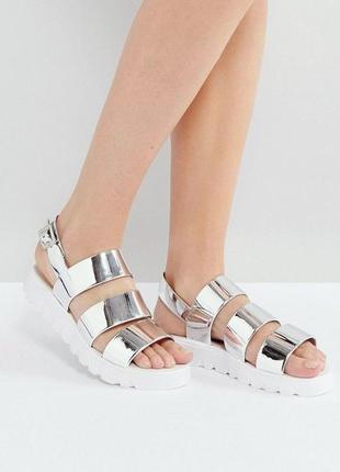 Силиконовые сандалии босоножки на платформе асос asos