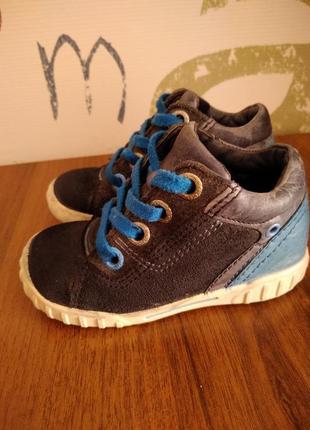 Ботиночки ecco деми мальчик 23 размер(14,5см) кожа/замша.