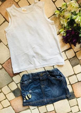 Комплект маечка и юбка 1.5-2 года