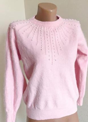 Свитер, ангора, тёплый свитер, пудровый свитер, мягкий свитер