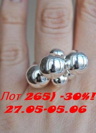 Лот 265) скидка 30%! серебряное кольцо санди (д 12) р.17,5