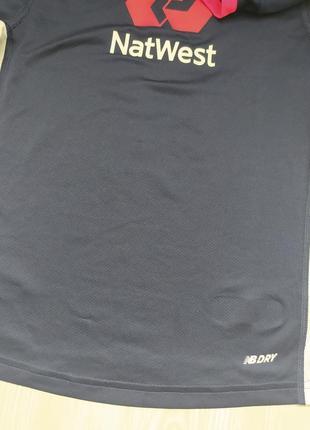 Детская синяя спортивная футболка new balance xs85 фото