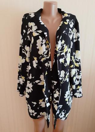 Красивый качественный пиджак прямого кроя без застежки от m&co