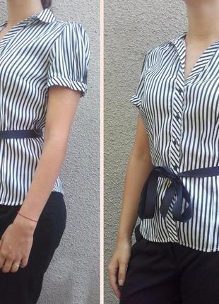 Рубашка zara basic полоска