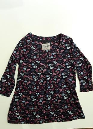 Фирменная удлиненная трикотажная блуза туника