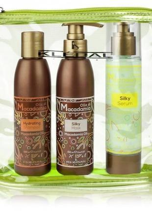 Набор macadamia oil kleral (шампунь 150мл + маска 150 мл + флюид 100 мл)