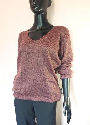 Легкий свитерок с люрексом все размеры