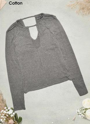 Джемпер с разрезом на спине и груди cotton