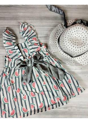 Комплект сукня+капелюшок 80, 86, 92, 98 розмір  (4150)