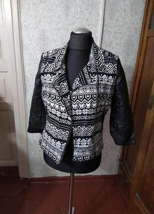 Куртка косуха, байкерская, жакет