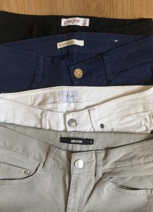 Узкие брюки, джинсы stradivarius, gloria jeans