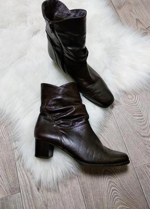 Демисезонные ботинки сапоги полусапожки кожаные из кожи