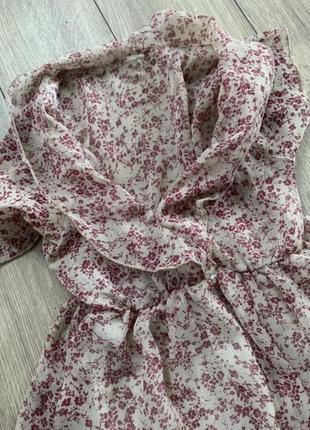 Платье мини цветы