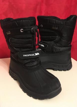 Trespass ботинки водонепроницаемые зима теплые мальчику девочке