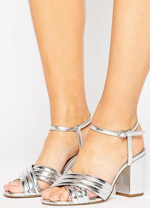 Босоножки на каблуке для широкой стопы asos hazel асос