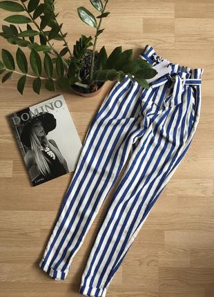 Летние катоновые брюки bershka