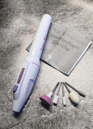 Фрезер ручка и 5 насадок фрезер портативный для маникюра, педикюра на батарейках probeauty
