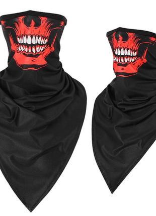 Бафф функциональный с черепом; бандана вело маска шарф skull mask