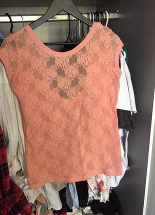 Красивая ажурная футболка zara